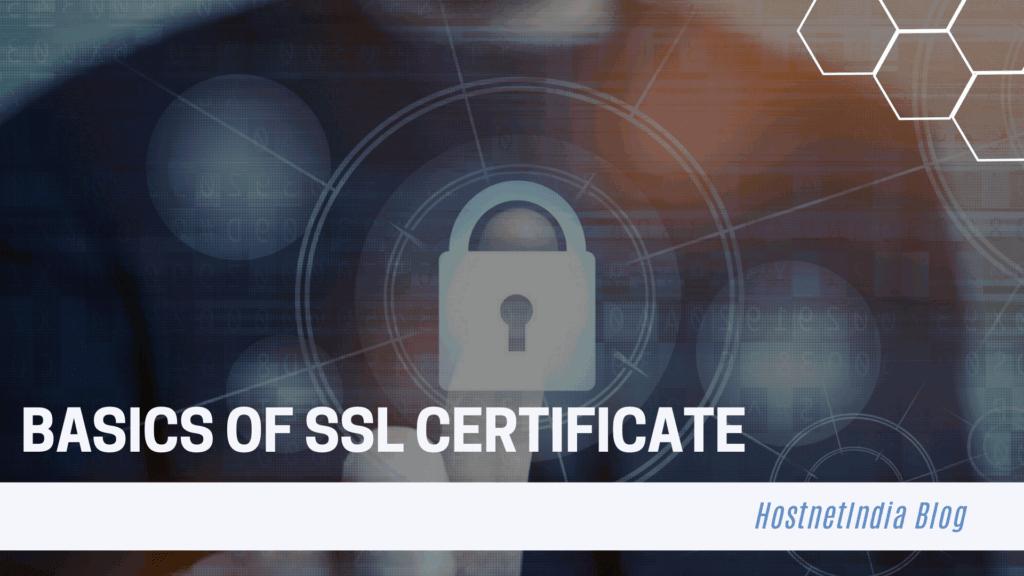 Basics of SSL Certificate