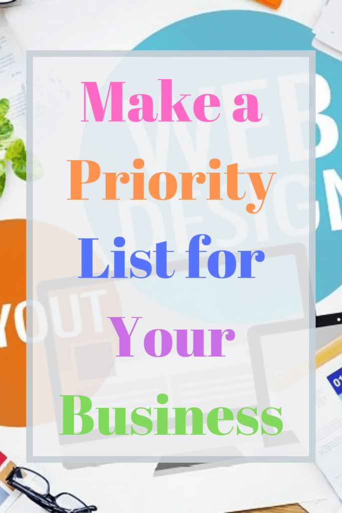 Make a Priority List for Your Business