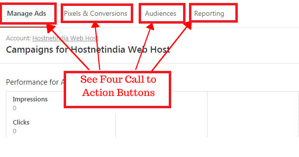 See Four Call to Action Buttons