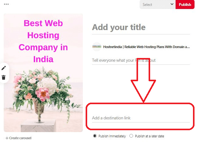 Add URL of Your Blog