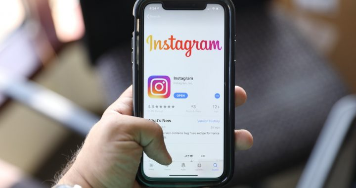 In this Monday, July 30, 2019 photo, the social media application, Instagram is displayed on Apple's App Store. (AP Photo/Amr Alfiky)